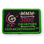 3000 Finds Geo-Achievement Patch